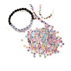 Perle Lettre Plastique coloré
