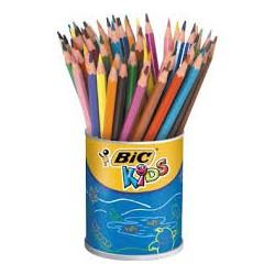 Pot de 60 crayons Ecolution Bic