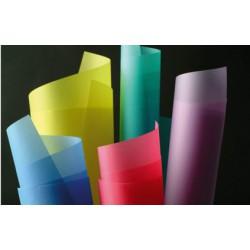 Rouleaux papier Transparent couleurs les 10