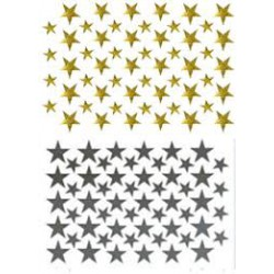 Etoiles Or et Argent - 864 pièces