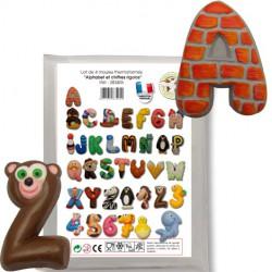 Moule Alphabet et Chiffre rigolo