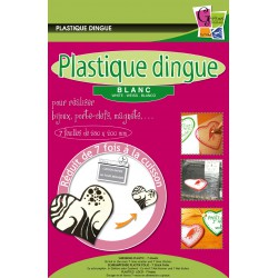 Plastique Dingue Transparent Blanc